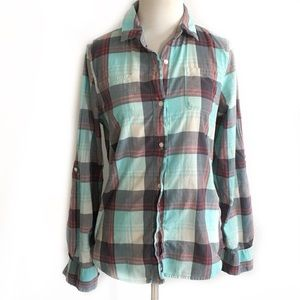 The North Face women's plaid small button down